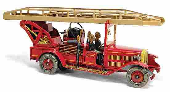 TIPP & CO. Gr. Feuerwehr, 30er Jahre, Blech lithogr.,