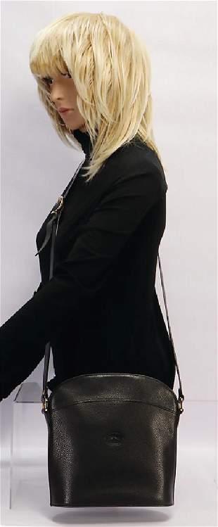 LONGCHAMP handbag black cowskin Longchamp logo in the