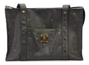 MCM shopper bag black MCM monogram 1 outside pocket
