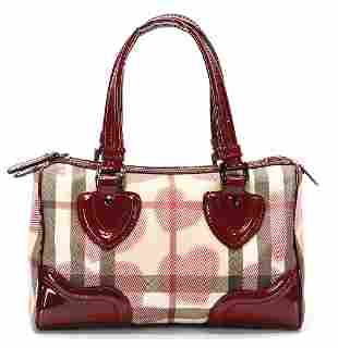BURBERRY handbag check pattern with hearts with