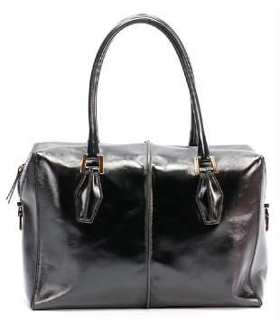TODrsquoS handbag black bright calf leather 2