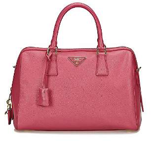 PRADA handbag Saffiano leather pink 2 carrying