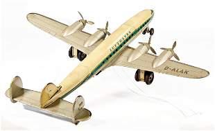plane 4engined propeller aircraft DALAK Lufthansa