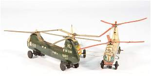 3 pieces helicopter lithographed sheet metal