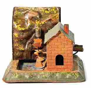 drive model handpainted sheet metal water mill
