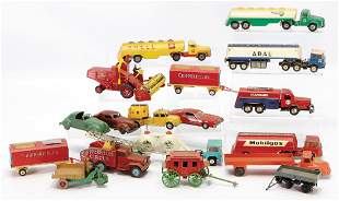 LEHMANN mixed lot with 14pieces truck and passenger