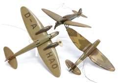 LEHMANN 3 pieces, airplanes, D-A HAO, 1 national emblem