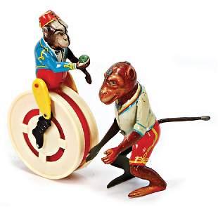 KHLER monkey on a running wheel sheet metal and
