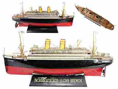 """MÄRKLIN Ocean Liner, """"Columbus"""", 98 cm, handpainted"""