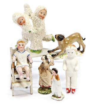 mixed lot of dollhouse miniature figures porcelain 1