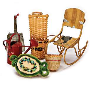 dollhouse decoration pieces rocking chair sheet
