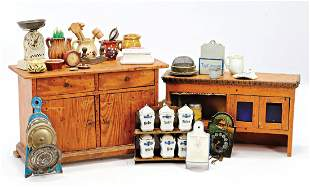 kitchen cupboard with richly accessories height of