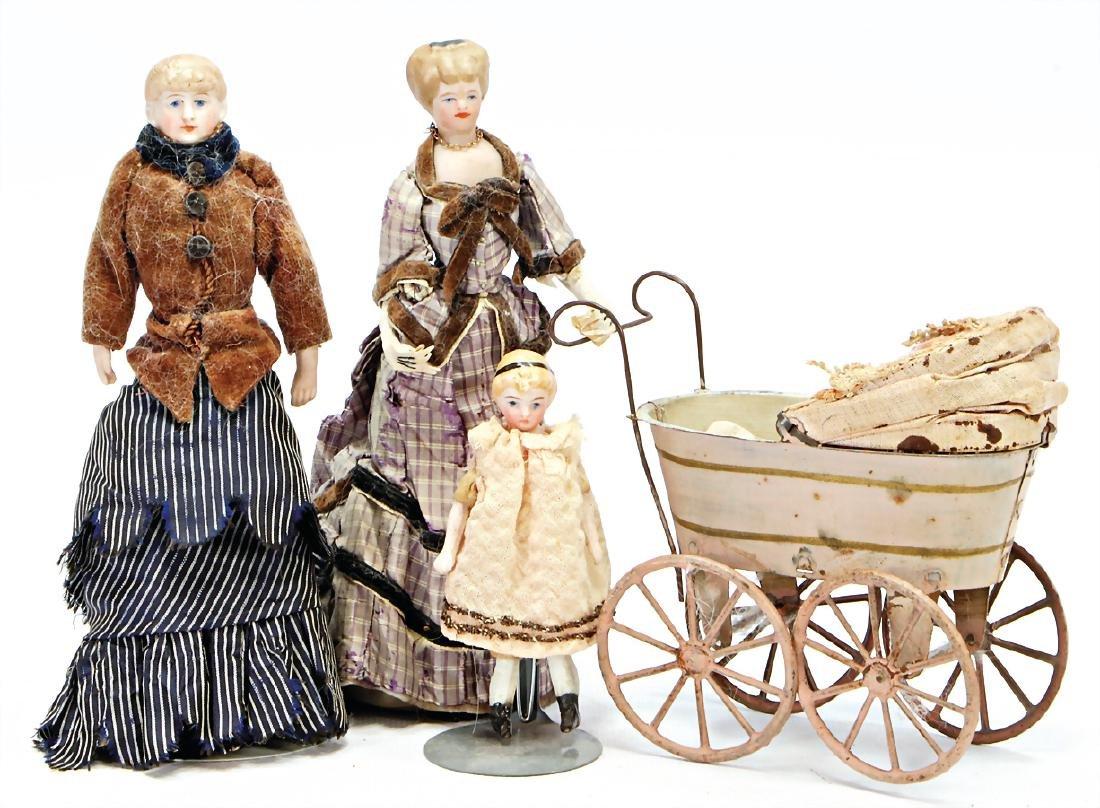 dollhouse doll (half-doll), 17 cm, shoulder headed