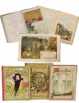 Frohes Spiel rhymes and lithographies fairy tales