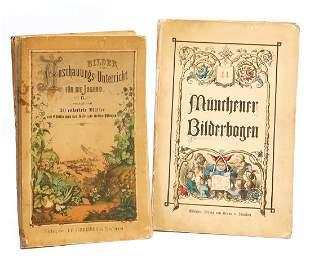 2 pieces pictorial broadsheet Mncher Bilderbogen