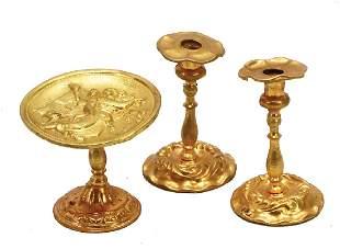 ERHARD amp SHNE 3 pieces sheet brass gilded 2