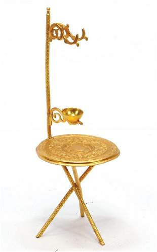 ERHARD amp SHNE sheet brass gilded table with