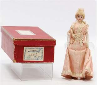 dollhouse doll fine lady in dress 18 cm bisque