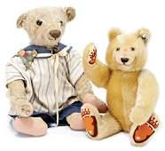 STEIFF bear, early, 44 cm, button eyes, seam at the