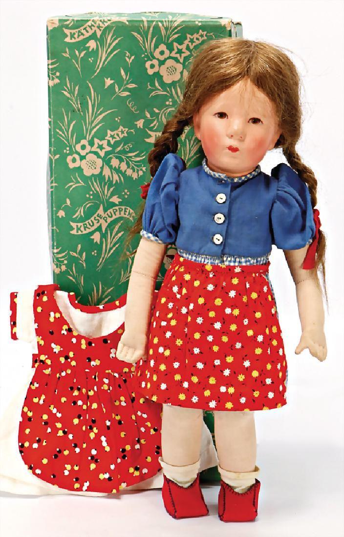 KÄTHE KRUSE Puppe, Stoffkopf, deutl. sichtbare