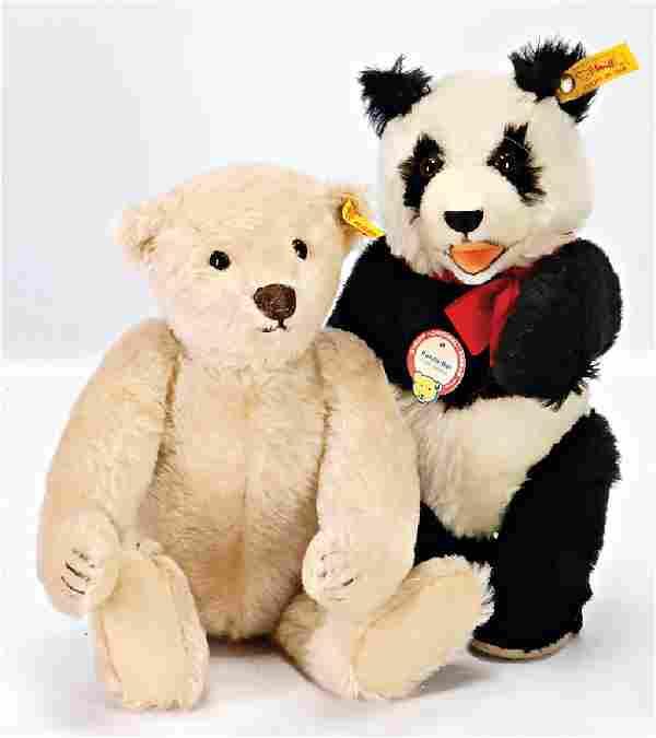 STEIFF 2 Bären, Replica, 1x Panda-Bär, Replica 1938, 26