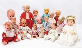 Gr. Konv. Celluloid-Puppen, meist SCHILDKRÖT, darunter