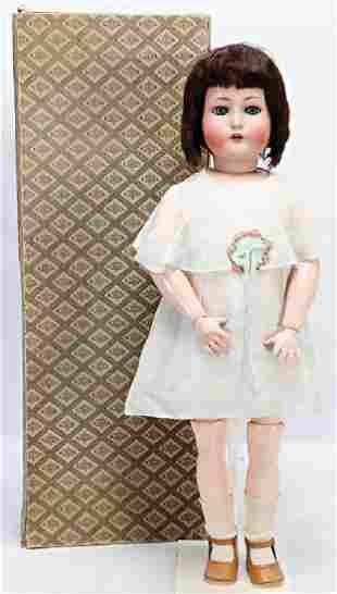 K&R Biskuit-Porzellankopf-Puppe, 72 cm, Kopfmarkierung