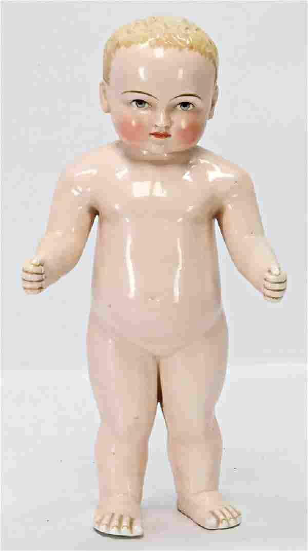 Badepuppe Frozen Charly, glasiertes Porzellan, blond,