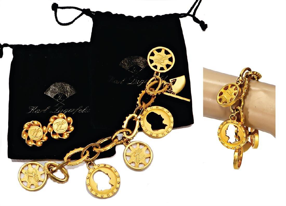 KARL LAGERFELD Modeschmuck, goldfarben, 1 Armband mit