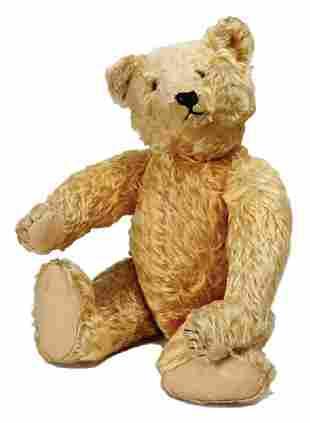 STEIFF bear, c. 1930, 50 cm, yellow mohair, long