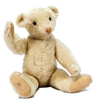 STEIFF bear ?Bärle?, c. 1906, 40 cm, white, shoe button