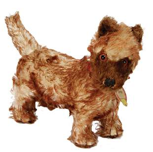 STEIFF Snip, dog, '30s, height: 18 cm, with chest