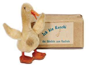 STEIFF goose, advertising figure, 13 cm, in original