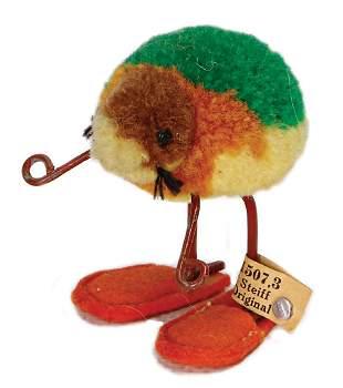 STEIFF beetle, miniature made of wool, pre-war era,