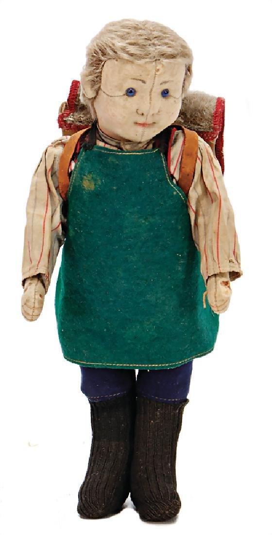 STEIFF pupil, of a village school, c. 1910, 28 cm,