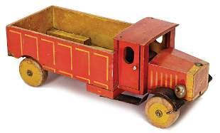STEIFF truck, No. 3812, 26 cm, wood, 1927-31, STEIFF