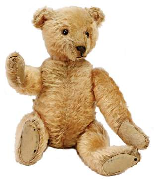 STEIFF bear, with 5 claws, c. 1905, kapok, stuffed,
