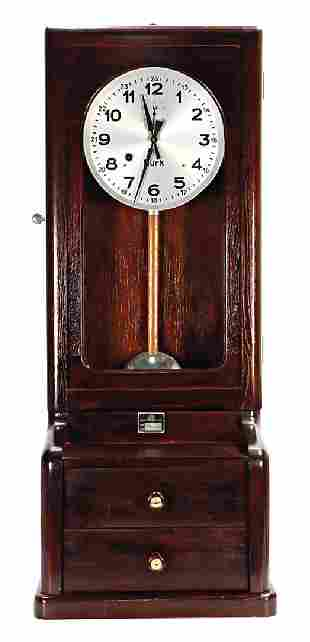 STEIFF Brk time stamp clock with inventory sign by