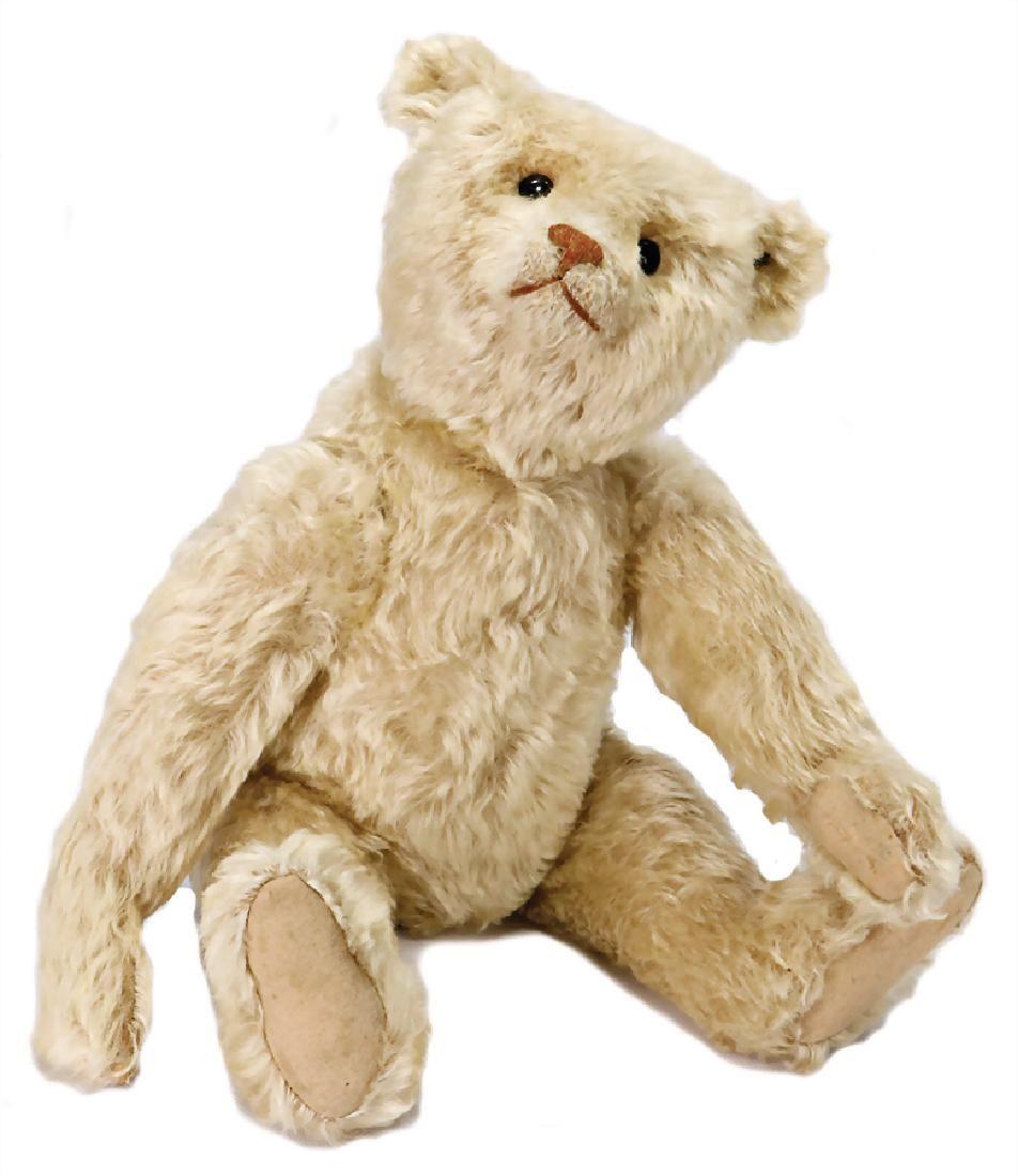 STEIFF teddy, white, 50 cm, bright, original