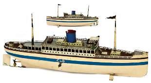 FLEISCHMANN Ocean-Liner, sheet metal, 50 cm, lifeboats
