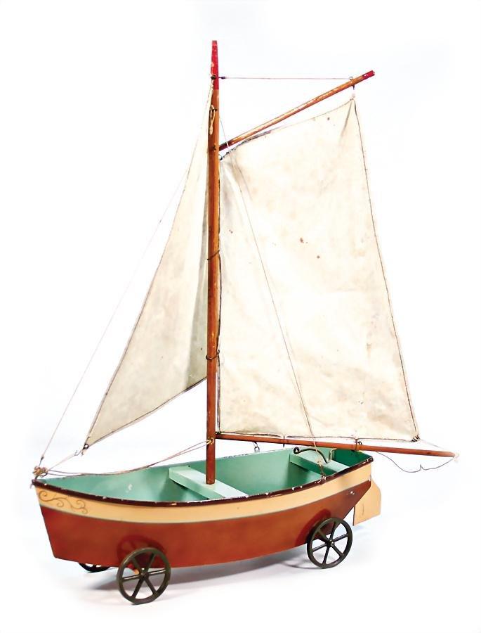 ALT BECK & GOTTSCHALK sailing boat, c. 1880, sheet