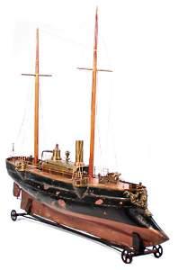 RADIGUET steam battleship, Live Steam Battleship, c.