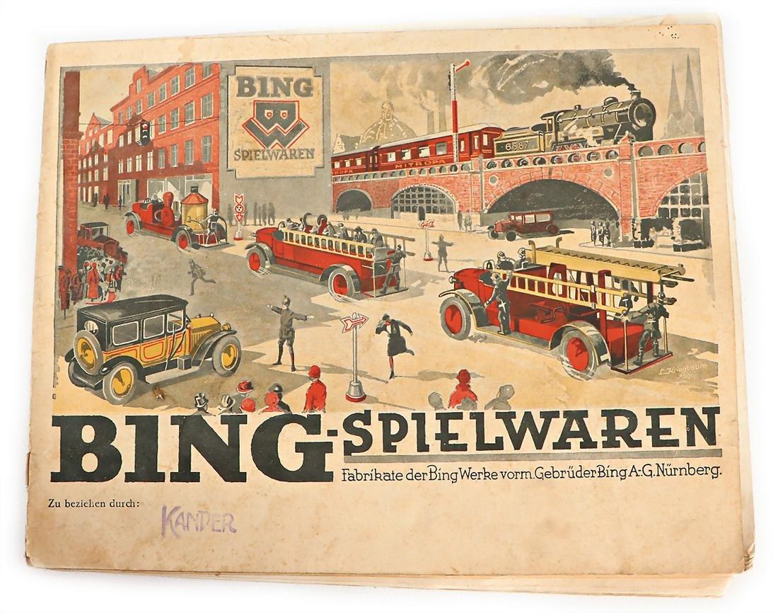 BING main catalog, '30s, train, steam engines,