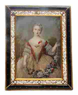 miniature picture in frame inside measurement 135 x