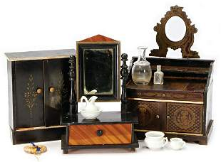accessories for a big dollhouse washstand with Boulle