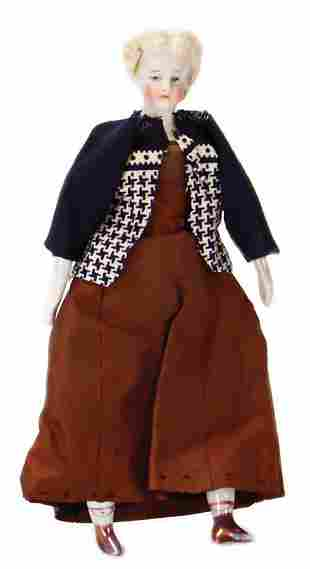 dollhouse doll Biedermeier Parian shoulder headed