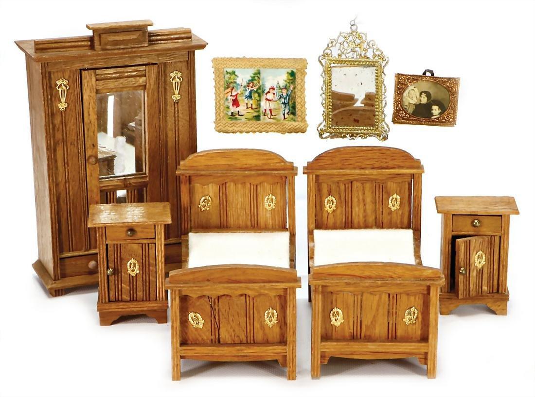 dollhouse furniture programme, art nouveau, wood with