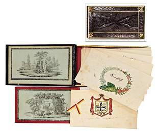 poesy album Biedermeier 1841 writing 1 family tree