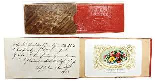 autograph book Biedermeier c 1860 writing 2