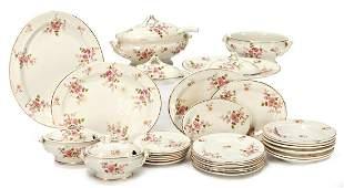 dolls dinner service ceramic with floral decor soup